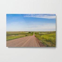 Country Road, Turtle Lake, North Dakota 1 Metal Print