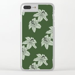 Lily The Tiger - Green Clear iPhone Case