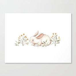 Blossom Bunny Canvas Print