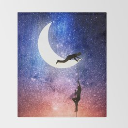 Come stargazing with me Throw Blanket