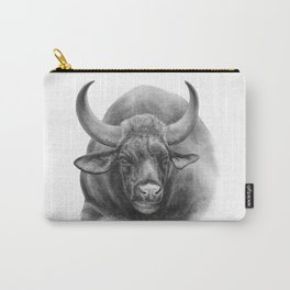 Indian Bison by Magda Opoka Carry-All Pouch