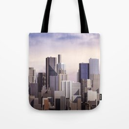 Day city panorama Tote Bag