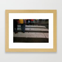 these boots were made for walking Framed Art Print