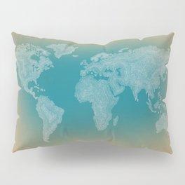 It's a Big ol' World - Pointilist Artwork Pillow Sham