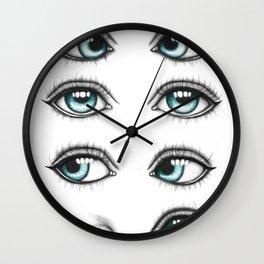 Ice eyes Wall Clock