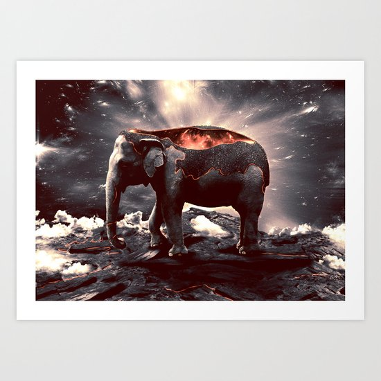 elefount / luminescent series Art Print