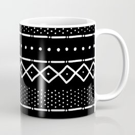 Mudcloth Pattern in Black Coffee Mug