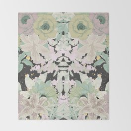 Mirror Flowers Throw Blanket