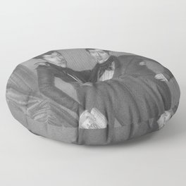 Chang and Eng Bunker - Siamese Twins Portrait Floor Pillow