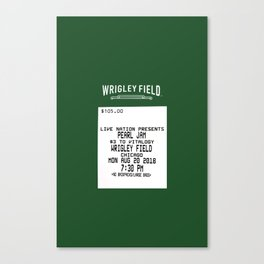 Concert Ticket Stub - Wrigley Field Canvas Print