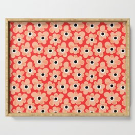 Cheerful Flower Pattern Serving Tray