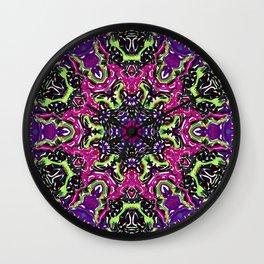 Neon Kaleidoscope 2 Wall Clock