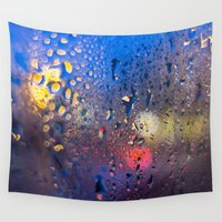 cafe Wall Tapestries featuring Condensation 04 - Cafe by premedia