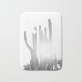 Sun blazing through San Pedro Cactus Bath Mat