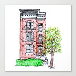 DC Row House No. 3 II Capitol Hill Canvas Print