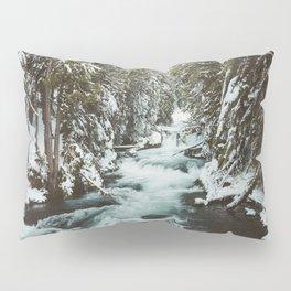 The Wild McKenzie River Portrait - Nature Photography Pillow Sham