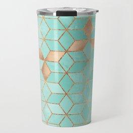 Soft Gradient Aquamarine Travel Mug
