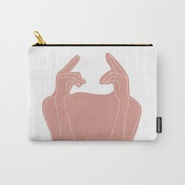 Hands line drawing illustration collage - Ena Carry-All Pouch