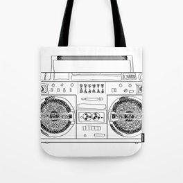 Boooombox Tote Bag