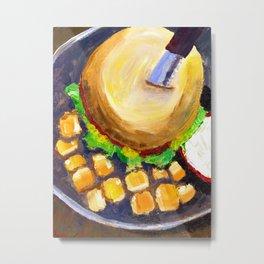 Blueplate burger Metal Print