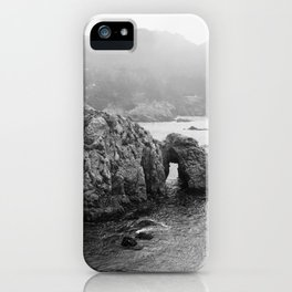 Ocean Arches | Black and White Nature Landscape Photography in California iPhone Case