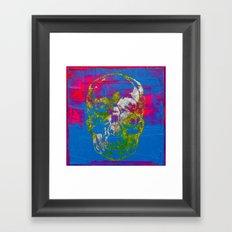 the 4i skull - mixed media on canvas Framed Art Print