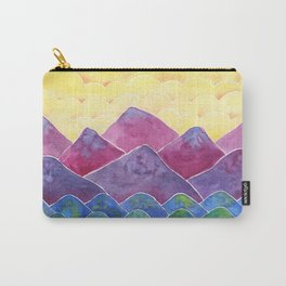Bright and Colorful Landscape Painting / Boho Chic Decor Carry-All Pouch