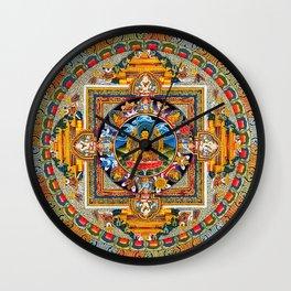 Mandala Buddhist 5 Wall Clock