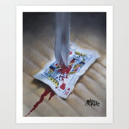 DEATH TO THE KING Art Print