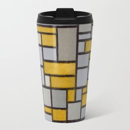 Piet Mondrian Composition with Grid  Travel Mug