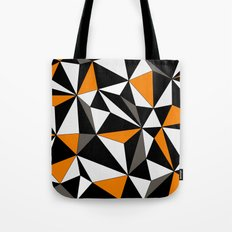 Geo - orange, gray, black and white. Tote Bag