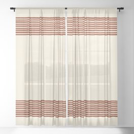 Band in Rust Sheer Curtain