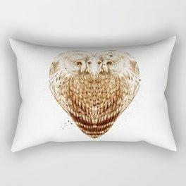 Owl Heart Rectangular Pillow