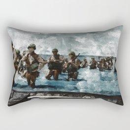 D Day Landings,WWII Rectangular Pillow