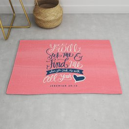 Seek Me With All Your Heart Rug