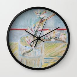 Almond blossoms in the glass Wall Clock