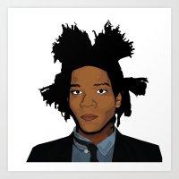 basquiat Art Prints featuring Basquiat by evanski
