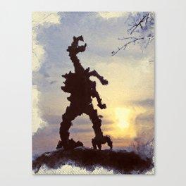 Cracow - wawel dragon Canvas Print
