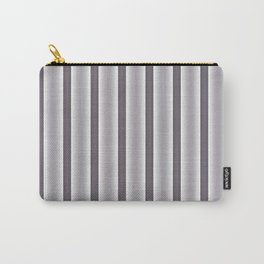 Gray Stripes Carry-All Pouch