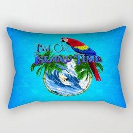 Island Time Surfing Rectangular Pillow