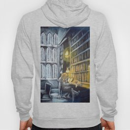 Hermione studying in the library Hoody