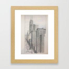 Chicago - North Michigan Avenue Framed Art Print