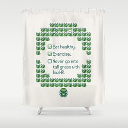 Green Trainer Tips Shower Curtain