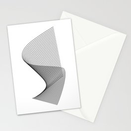 """Linear Collection"" - Minimal Letter S Print Stationery Cards"