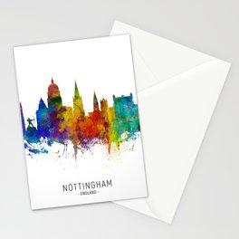 Nottingham England Skyline Stationery Cards