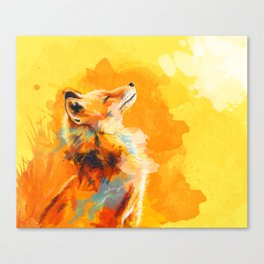 Blissful Light - Fox portrait Canvas Print