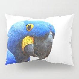 Blue Parrot Portrait Pillow Sham