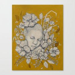 """""""Guardians"""" - Surreal Floral Portrait Illustration Canvas Print"""