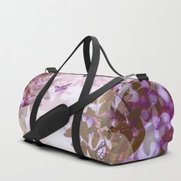 Poetic Autumn -Woman Portrait Colorful Leaves #decor #society6 #buyart Duffle Bag