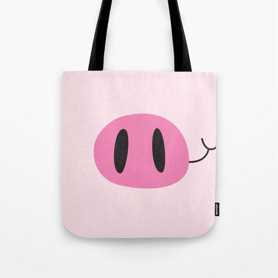 Happy Pig Minimalist Tote Bag
